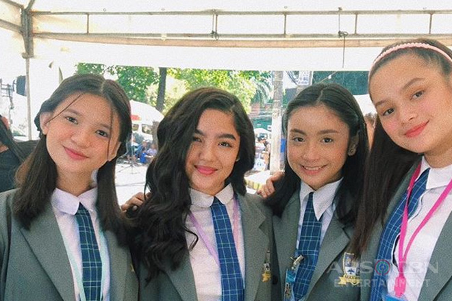 Behind-The-Scenes: Andrea Brillantes with Marga's Girl Squad in Kadenang Ginto