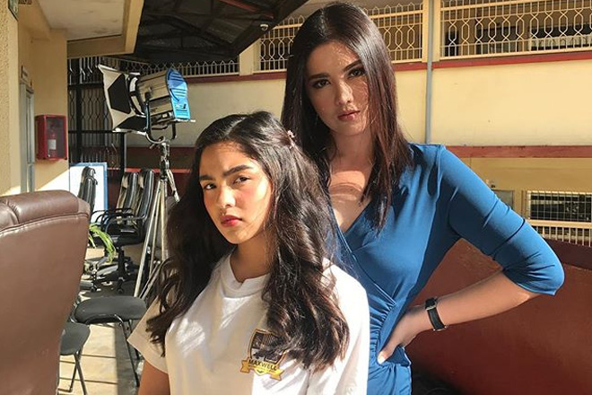 LOOK: Dimples and Andrea's bonding moments on the set of Kadenang Ginto