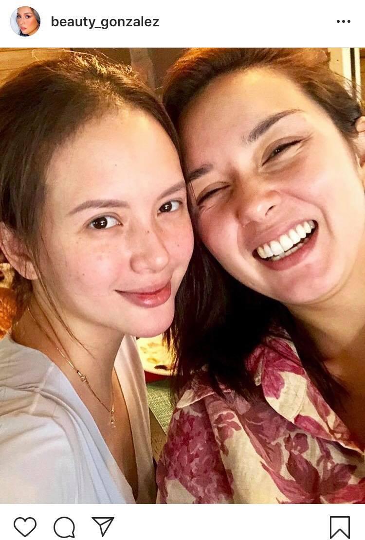 Beauty Gonzales with her BFF Ellen Adarna